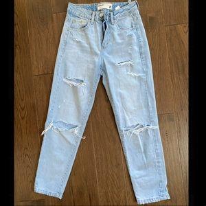 Light wash garage mom jeans